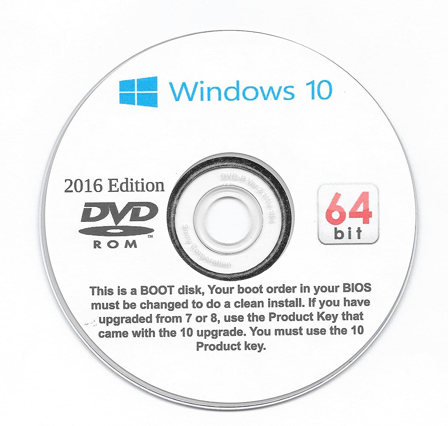 Windows 10 Pro, 32 and 64 Bit. Re install, or a Clean Install on your upgrade! Repair, Recovery. Reinstall, Re Install
