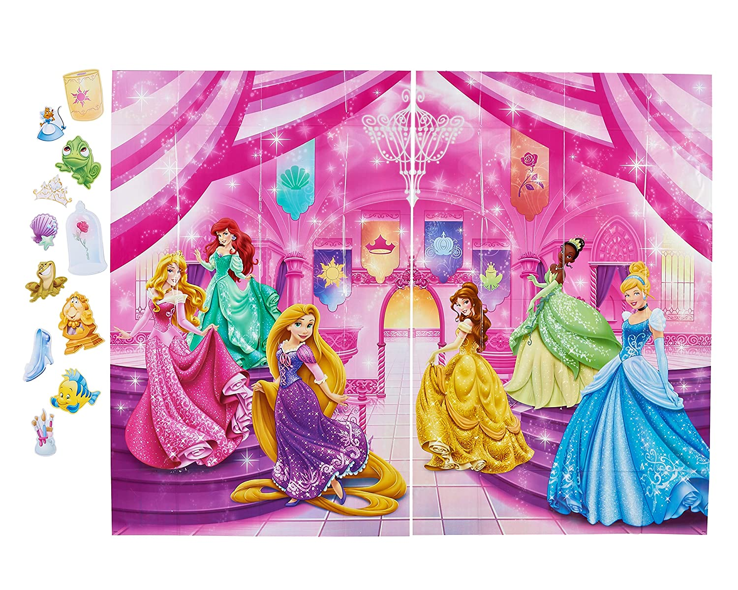 Beau Disney Princess Photo Kit, Backdrop And Props, Party Supplies 2 Piece 78 In  X 60 In Backdrop 11 Assorted Props Pretty Disney Princess Photo Backdrop ...