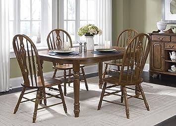 Liberty Old World Oval Leg Table Set 18-