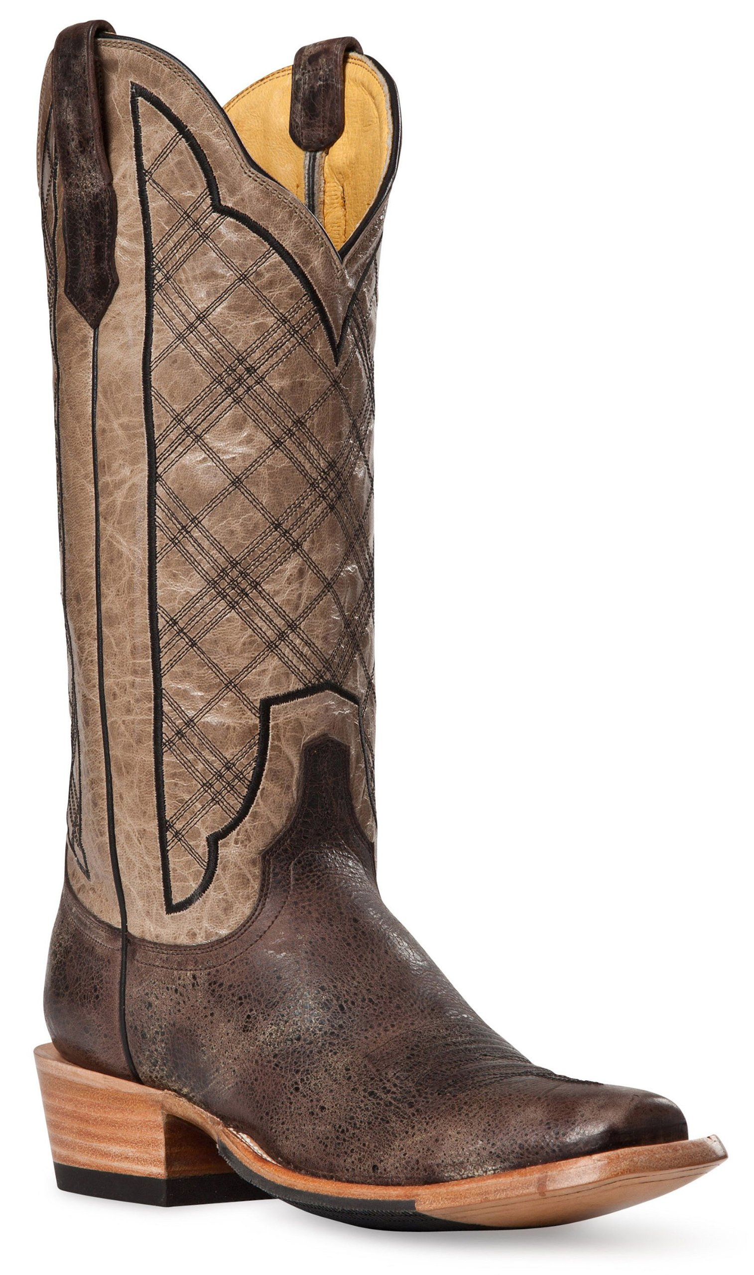 Cinch Men's Classic Vintage Plaid Embroidered Cowboy Boot Square Toe