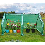 Quictent Updated Super Large Zipper Doors Mini Greenhouse Portable Cloche Green House 71