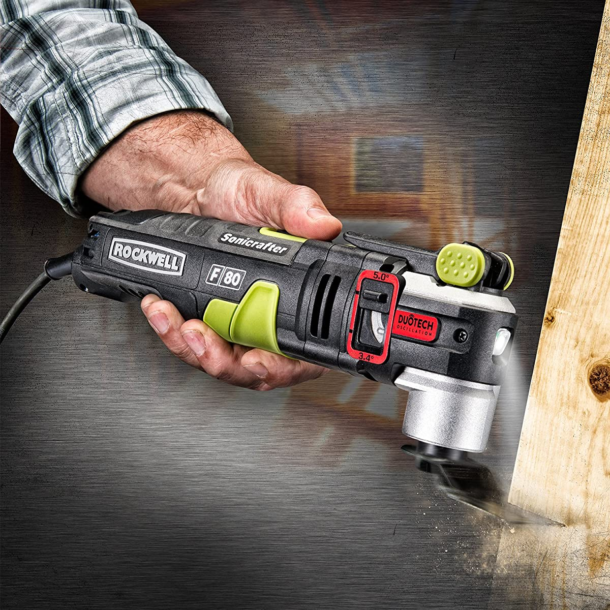 Rockwell RK5151K 4.2 Amp Sonicrafter F80 Oscillating Multi-Tool with Duotech Oscillation Angle Technology and 10-Piece Accessory kit