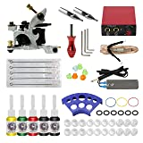 ITATOO Complete Tattoo Kit for Beginners Tattoo Power Supply Kit 5 Tattoo Inks 5 Tattoo Needles 1 Pro Tattoo Machine Kit Tattoo Supplies TK104013