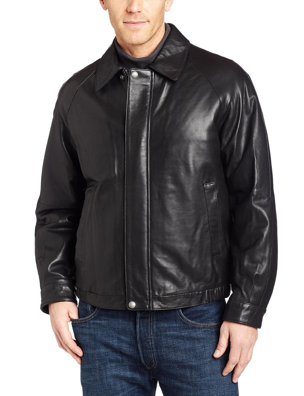 Perry Ellis Men Lambskin Leather Jacket Black Large New Ebay
