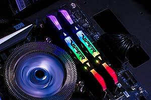 Patriot Viper Gaming RGB Series DDR4 DRAM 4133MHz 16GB Kit - Black - RGB Color Profiles (Color: Black 16GB 4133Mhz, Tamaño: 16 Gb)