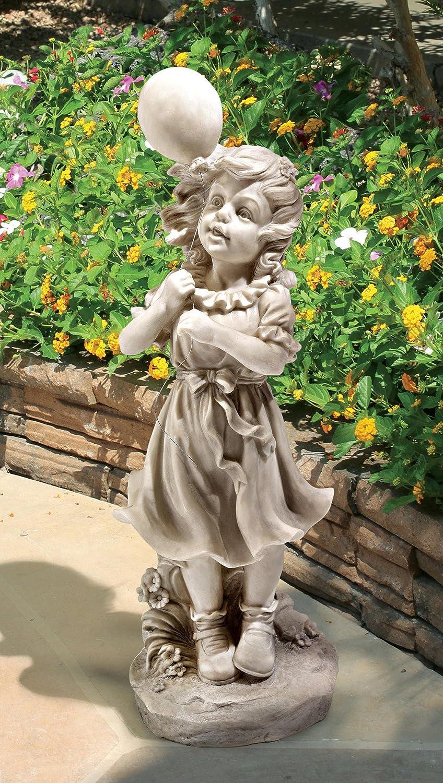 Little Girl Garden Statue: Playing, Reading & Dancing