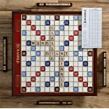 Scrabble Giant Deluxe Edition with Rotating Wooden Board (Color: Multi, Tamaño: 25 in.)