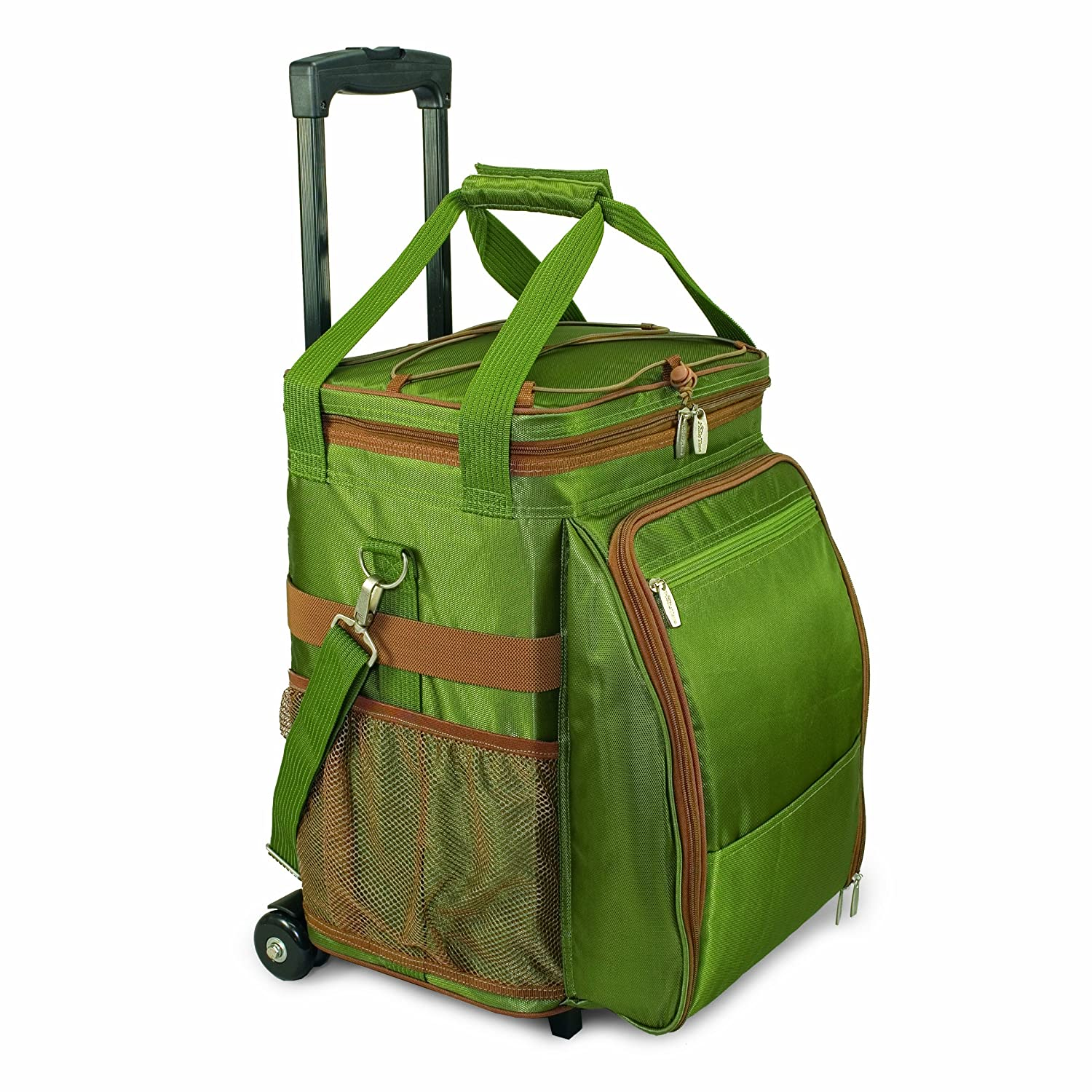 Picnic Time Avalanche Deluxe Picnic Cooler On Wheels