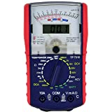 Tekpower TP7310 Hybrid Dual Display: Analog & Digital Multimeter with Battery and Ambieant Temperature Tester (Color: Black)