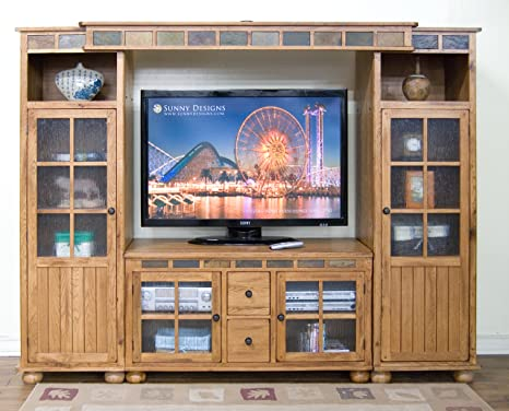 "Sunny Designs Sedona 27-1/2"" TV Console in Rustic Oak 2753RO"