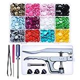 KAM Snaps Starter Kit - 360 Pairs Plastic Snap Fastener and Kam Pliers (Color: 360 set T5 snaps + Plier)