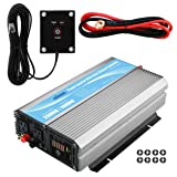 GIANDEL 2000Watt Power Inverter 12V DC to 110V 120V AC with 20A Solar Charge Controller and Remote Control and Dual AC Outlets & USB Port For RV Truck Solar System (Color: 2000W+Solar, Tamaño: 2000W+Solar)