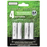 Moonrays 97125 Rechargeable AA Batteries For Solar-Powered Lights (4-Piece Value Pack) (Tamaño: 4 Pack)