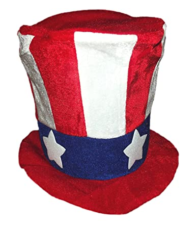 754f2fa2b78f Fun Hat Patriotic Red, White, And Blue Large Felt Top Hat for Adults Fun Hat  Patriotic Red, White, And Blue Large Felt Top Hat for Adults
