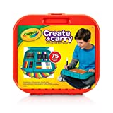 Crayola Create 'N Carry 75Piece Art Kit Art Gift for Kids 5 & Up, 2-in-1 Portable Lap Desk & Carry-Case for Child Artists On-The-Go, Includes Markers, Crayons, Colored Pencils & Paper, Styles May Vary (Color: Assorted, Tamaño: Art Tools Kit)