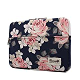 canvaslife White Rose Laptop Sleeve 15 Inch 15 Case and 15.6 Laptop Bag (Color: White Rose, Tamaño: 15 inch/15.6 inch/macbook pro 15)