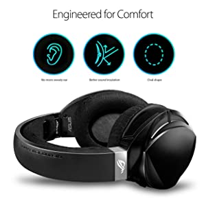 ASUS ROG Strix Fusion Wireless Gaming Headset for PC and Playstation 4 (PS4) with Dual Channel 2.4GHz Wireless Mini Dongle, Digital Microphone with Auto Mute, and Touch Controls (Color: Black)