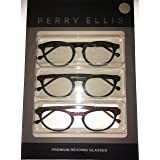 Perry Round Round Plastic Reading Glass. PER 25 Brown Black Multi1.5 (Color: Brown, Tamaño: Medium)