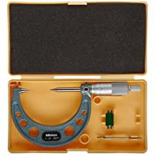 Mitutoyo Point Micrometer, Ratchet Stop, Inch