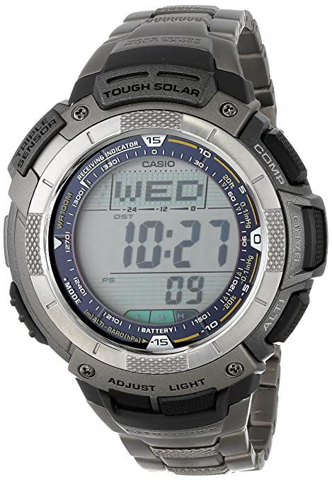 "Casio Men's PAW1100T-7V ""Pathfinder"" Solar Atomic Digital Watch-奢品汇 
