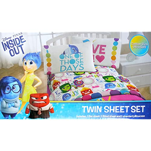 Disney Inside Out Twin Sheet Set