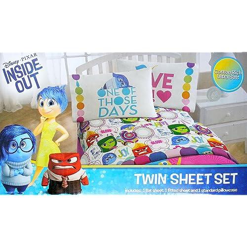 Disney Inside Out Twin Sheet Set