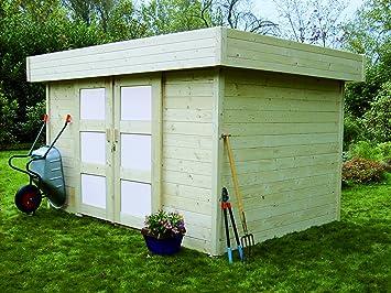 abri de jardin en bois toit plat stockholm 8 7m jardin. Black Bedroom Furniture Sets. Home Design Ideas