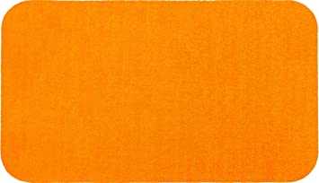 Wash dry 051022 tapis tapis de bain ponge orange 50x85 for Tapis cuisine wash and dry