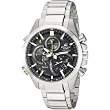 Casio Men's 'Edifice Solar Connected' Quartz Stainless Steel Casual Watch, Color:Silver-Toned (Model: EQB-501D-1ACF) (Color: SILVER/BLACK/GREEN)