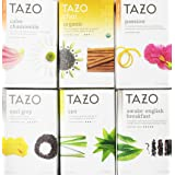 Tazo Assorted Tea Sampler 20ct (Pack of 6) (Color: White. Green and Red, Tamaño: Pack of 6)