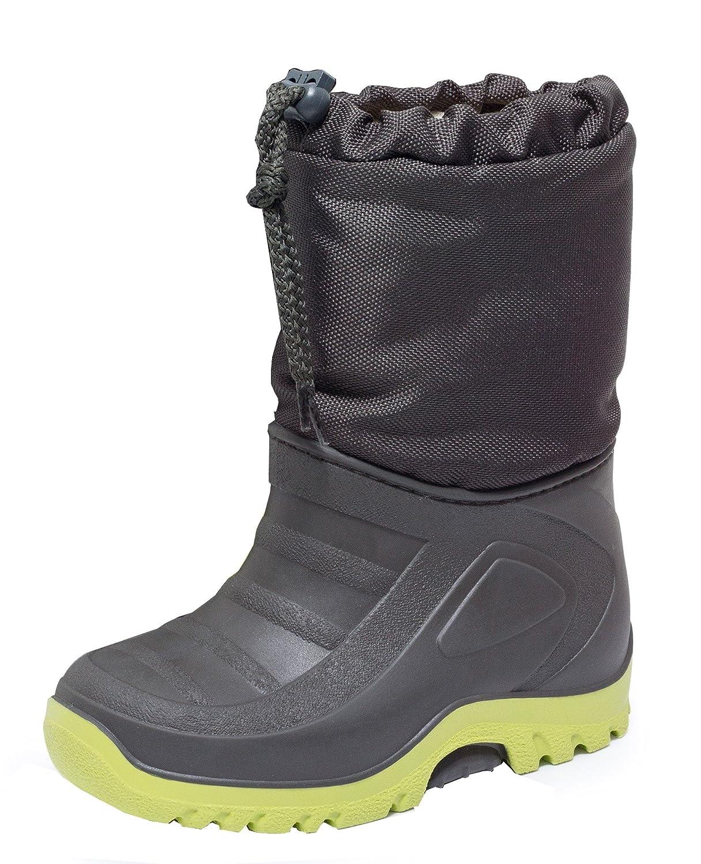 Zapato Europe Jungen Mädchen Snowboot Stiefel mit TEFLON grau/limone bestellen