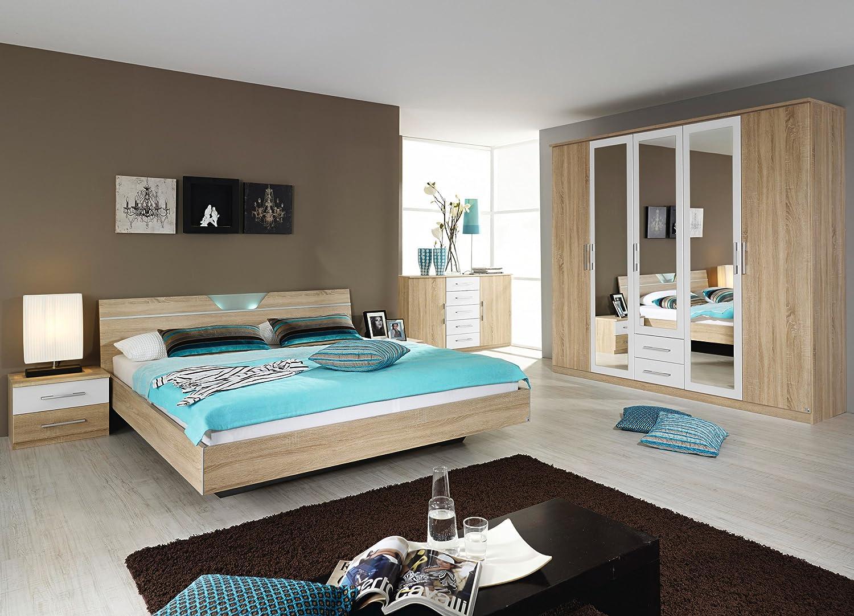 rauch Schlafzimmer Valence,4-teilig Eiche Sonoma/alpinweiß Eiche Sonoma/alpinweiß jetzt bestellen