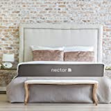 Nectar Queen Mattress + 2 Free Pillows - Gel Memory Foam - CertiPUR- US Certified - 180 Night Home Trial - Forever Warranty (Color: White With Gray, Tamaño: Queen)