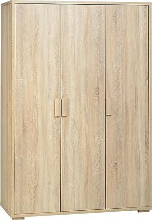 Seconique Cambourne Kleiderschrank mit 3–Sonoma Eiche Effekt
