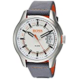 Hugo BOSS Men's 'Hong Kong Sport' Quartz Stainless Steel and Nylon Casual Watch, Color Grey (Model: 1550015)