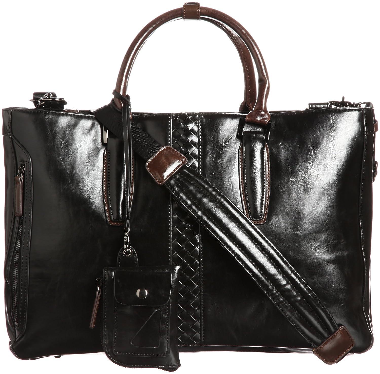 Amazon.co.jp: [エバウィン] EVERWIN ビジネスカジュアル対応2本手ダブルタイプ_ショルダーベルト付パスケース付属 23016 BR (ブラウン): シューズ&バッグ