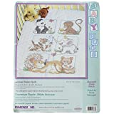 Dimensions Stamped Cross Stitch Baby Animals DIY Baby Quilt Kit, 34' x 43'