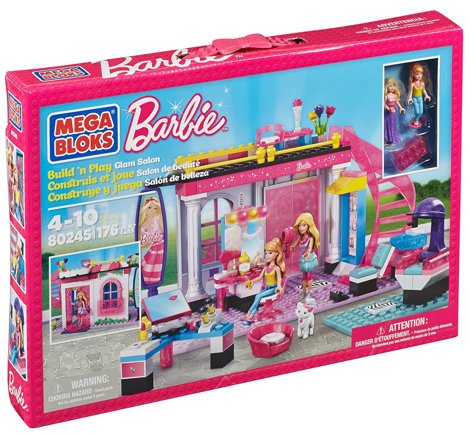 Mega Bloks Barbie Fashion Boutique Barbie Doll House Like Lego Mega Bloks Barbie Glam Salon