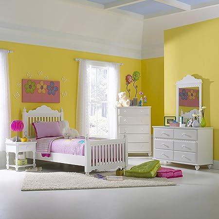 Lauren Bed - Twin, Nightstand, Dresser, and Mirror