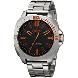 BOSS Orange Men's 1513296 Sao Paulo Analog Display Japanese Quartz Silver Watch (Color: Silver)