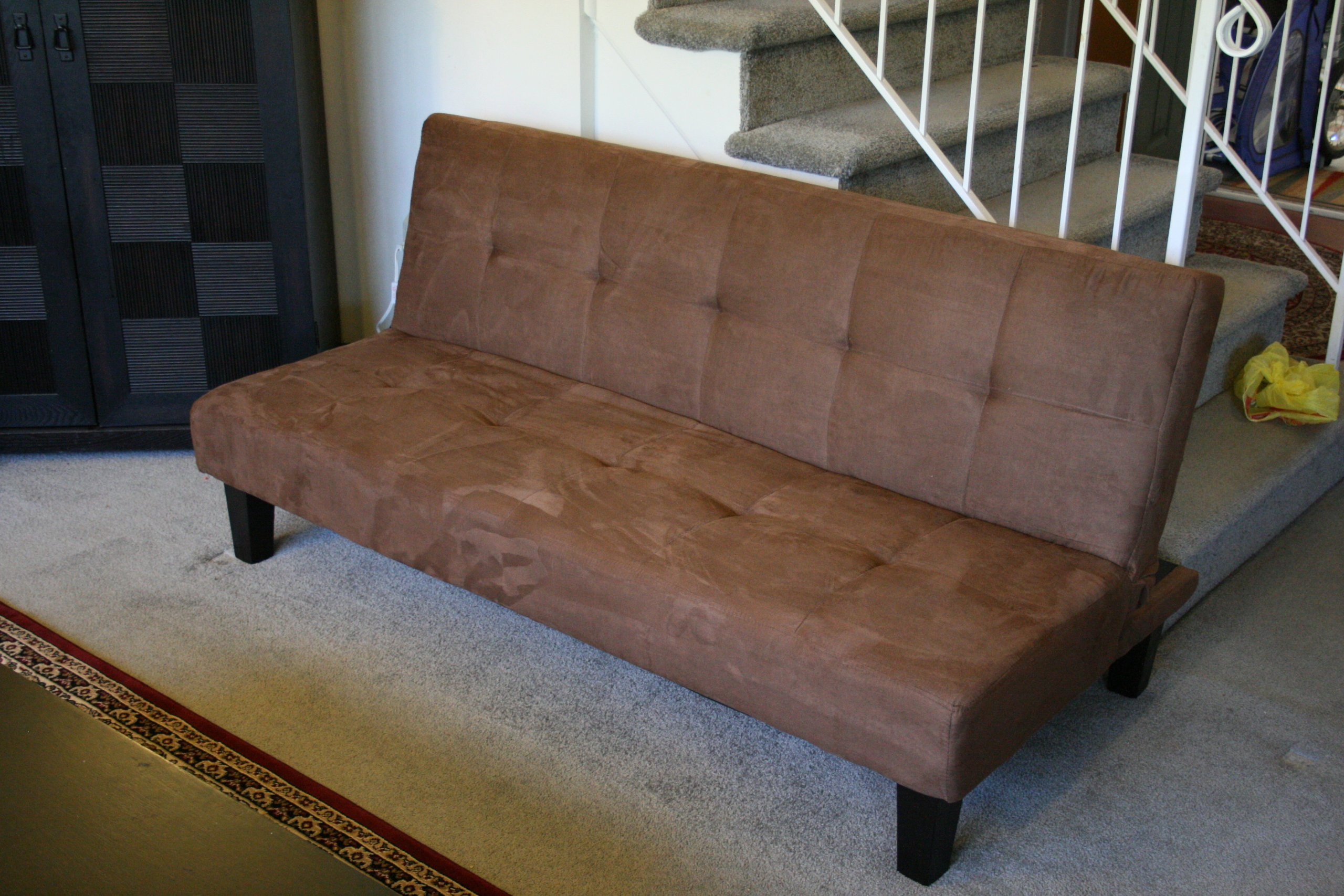 Chocolate Brown Microfiber with Adjustable Back Klik Klak Sofa