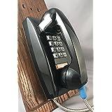 Asimitel Pandu Single-line Armoured Wall Phone - Black (Color: Black)