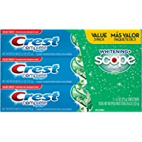 3-Pack Crest Complete Whitening Plus Scope Toothpaste (Minty Fresh)