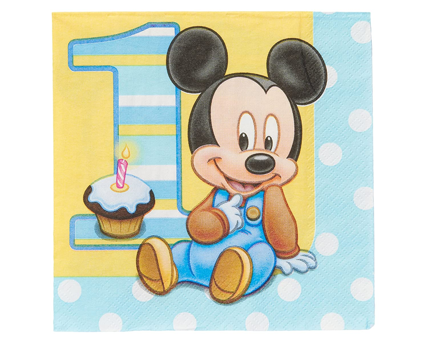 Mickey Mouse First Birthday Party Supplies – Baby Mickey First Birthday Invitations