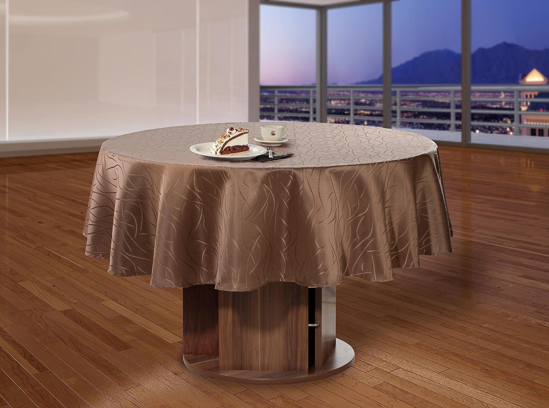 Tischdecke-Damast-Streifen-Rund-Farbe-und-Groesse-Frei-waehlbar