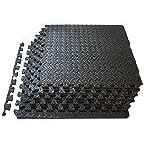 ProSource fs-1908-pzzl Puzzle Exercise Mat EVA Foam Interlocking Tiles (Black, 24 Square Feet) (Color: Black, Tamaño: 24 Square Feet)