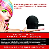 Hair Fiber Applicator Pump - Spray Applicator for LOOK THICK Instant Hair and Beard Fibers (Color: Black, Tamaño: One Size Fits All)