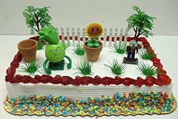 buy plants vs zombies birthday cake topper set featuring 3 random on birthday cake toppers online india