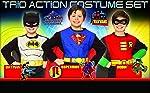 Rubie's Costume Co Rubies DC Comics Boys Action Trio Superhero Costume Set