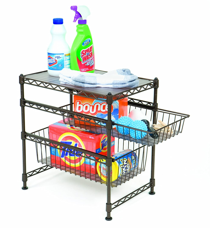 Kitchen Shelf Amazon: Seville Classics Commercial Cabinet Organizer Sliding